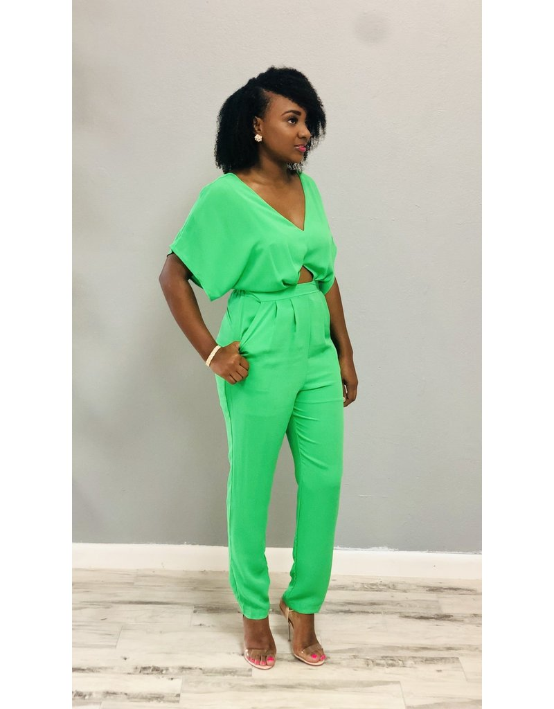 Strike Me Down Chiffon Jumpsuit