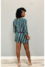 Just The Beginning Striped Romper