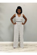 Queen Of The Night Polka Dot Jumpsuit