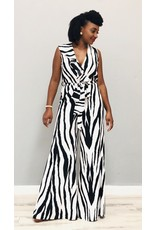Too Busy For You Striped Jumpsuit