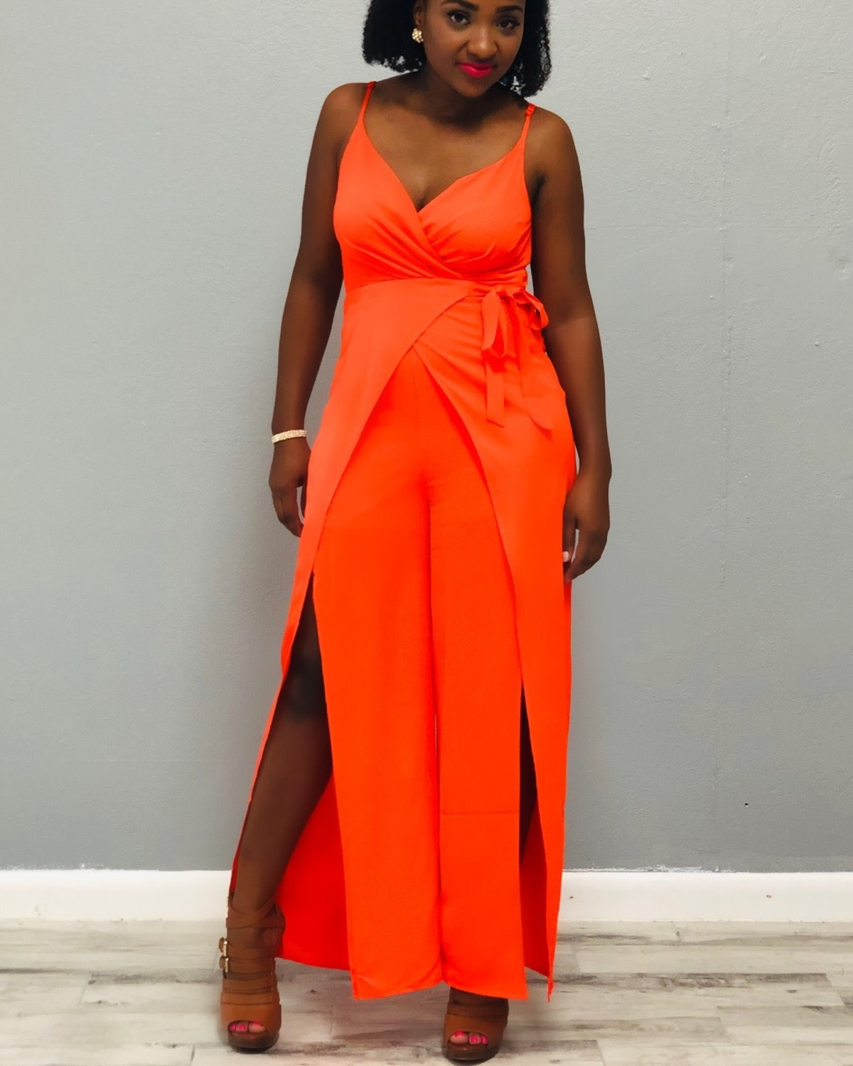 On The Go Tie Jumpsuit