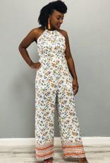 Blossom Bright Jumpsuit White