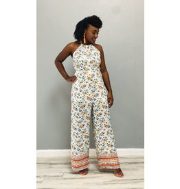 Blossom Bright Jumpsuit White