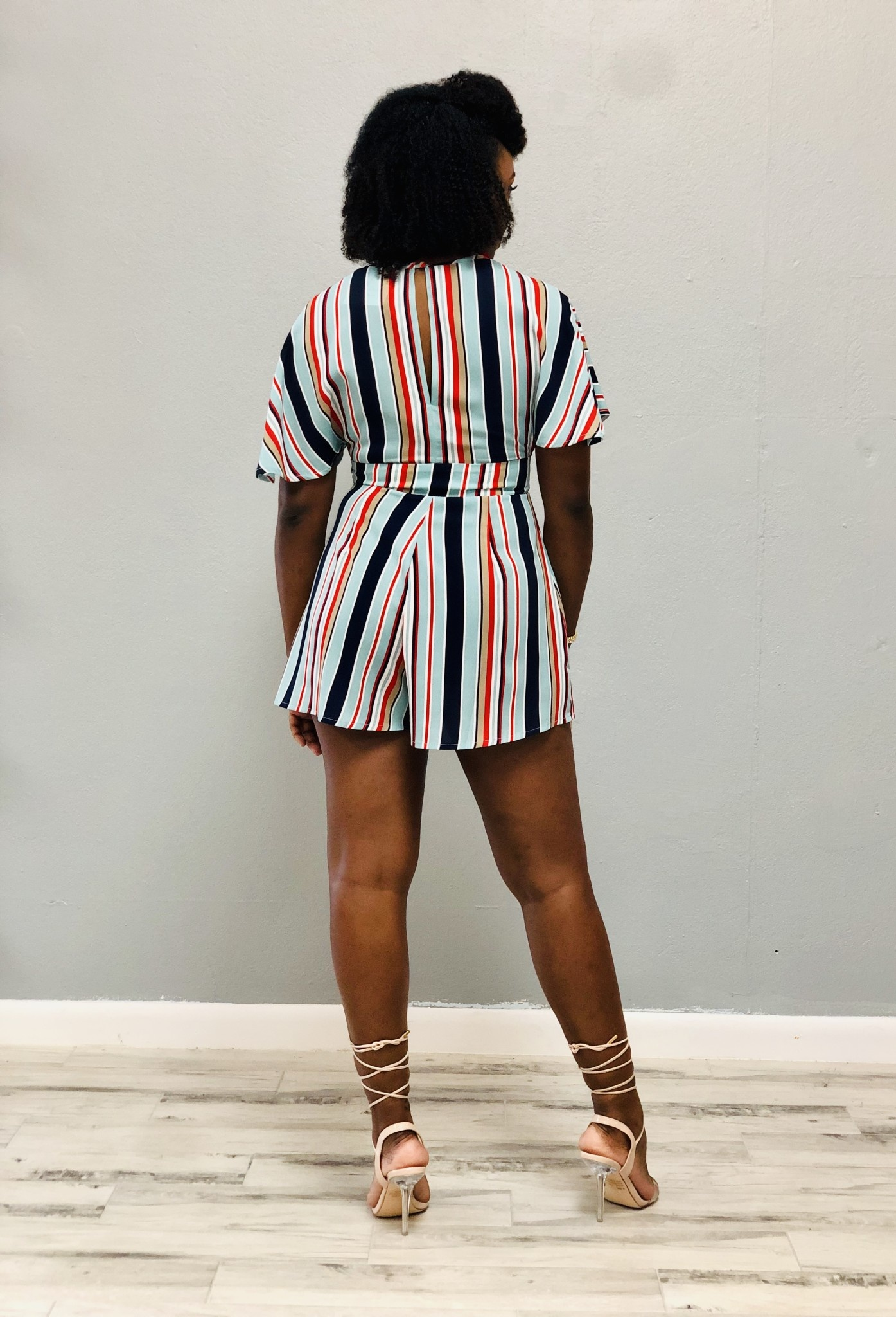 Doesn't Come Easy Striped Romper