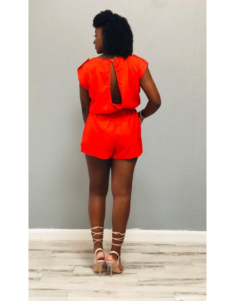 Free Time Romper Orange