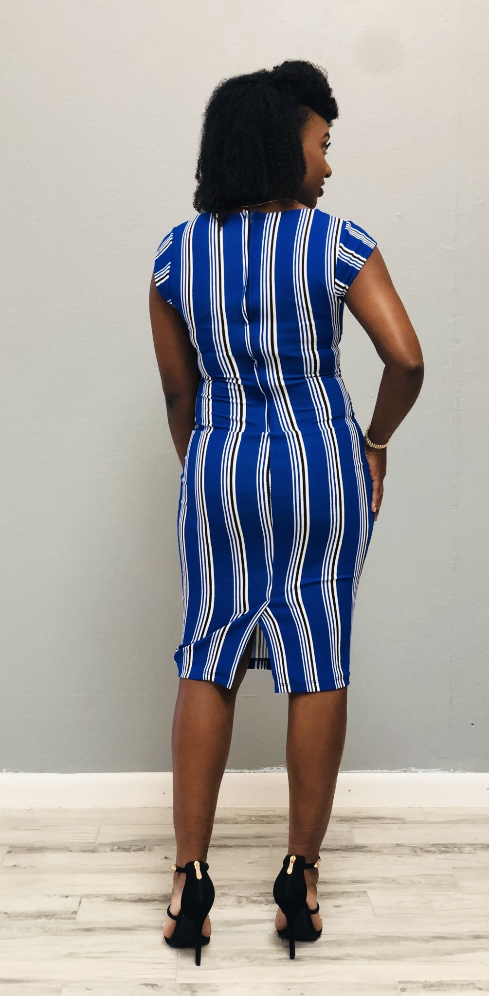 Too Busy To Care Stripe Dress