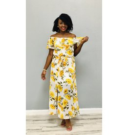 Sun So Bright Floral Dress