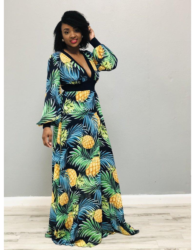 Pineapple Fields Maxi Dress