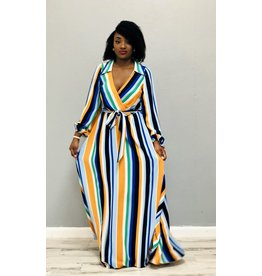 Give Me A Chance Striped Maxi Dress