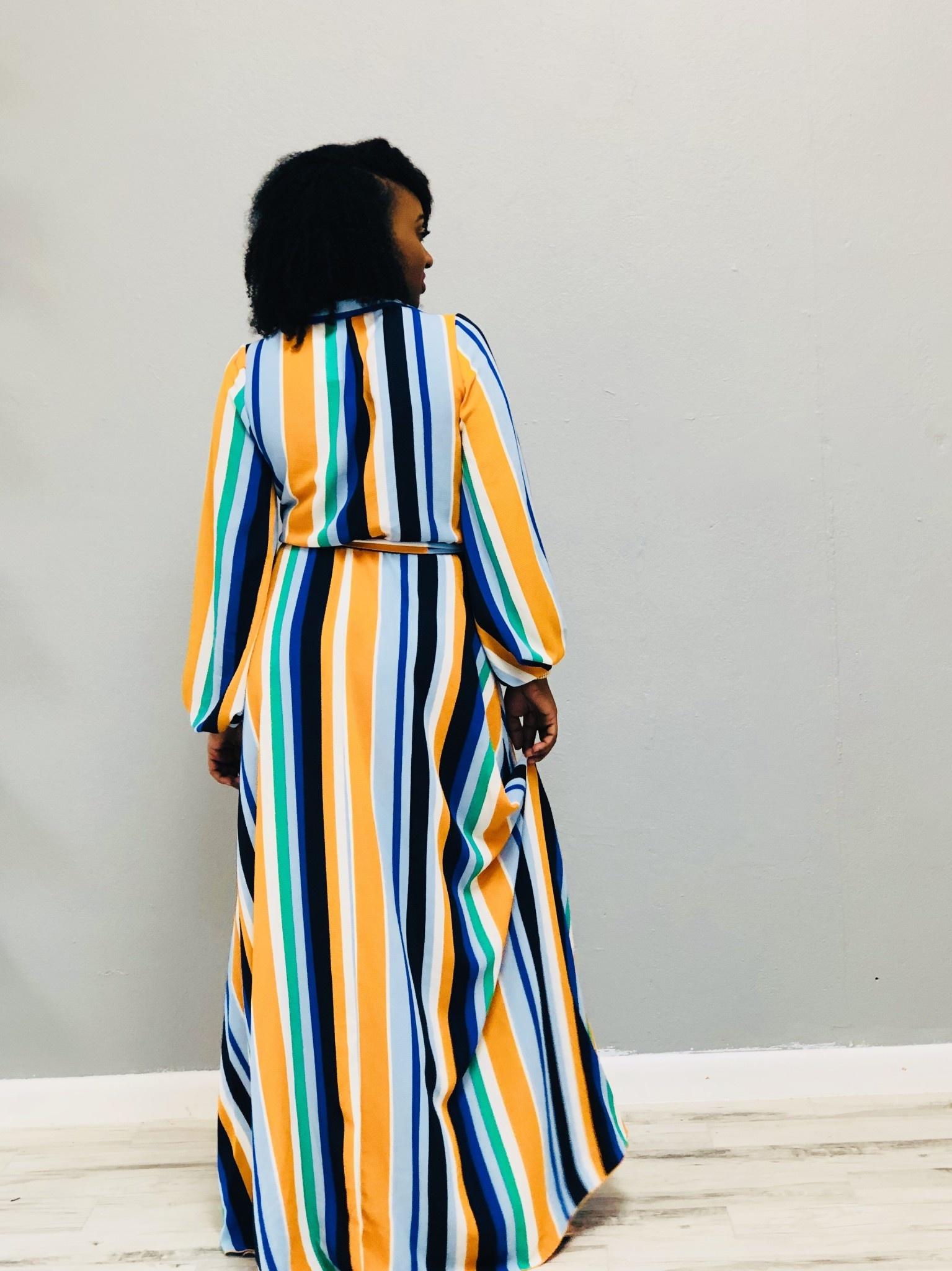 Give Me A Chance Striped Maxi Dress