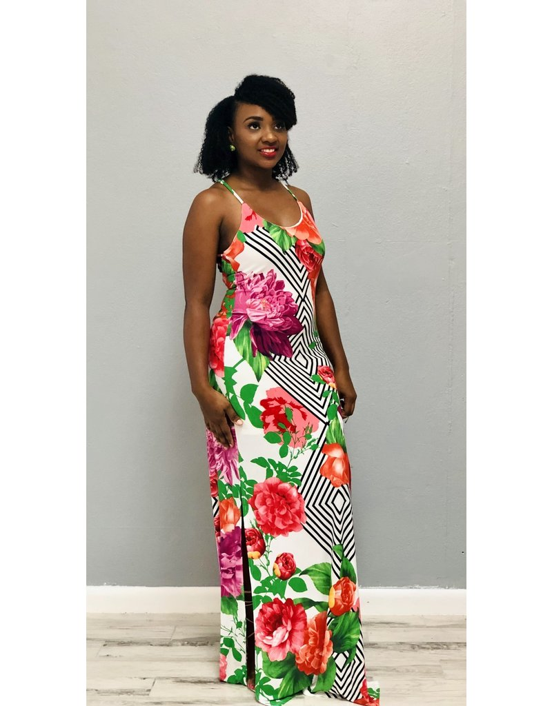 Tropical Dreams Floral Maxi Dress