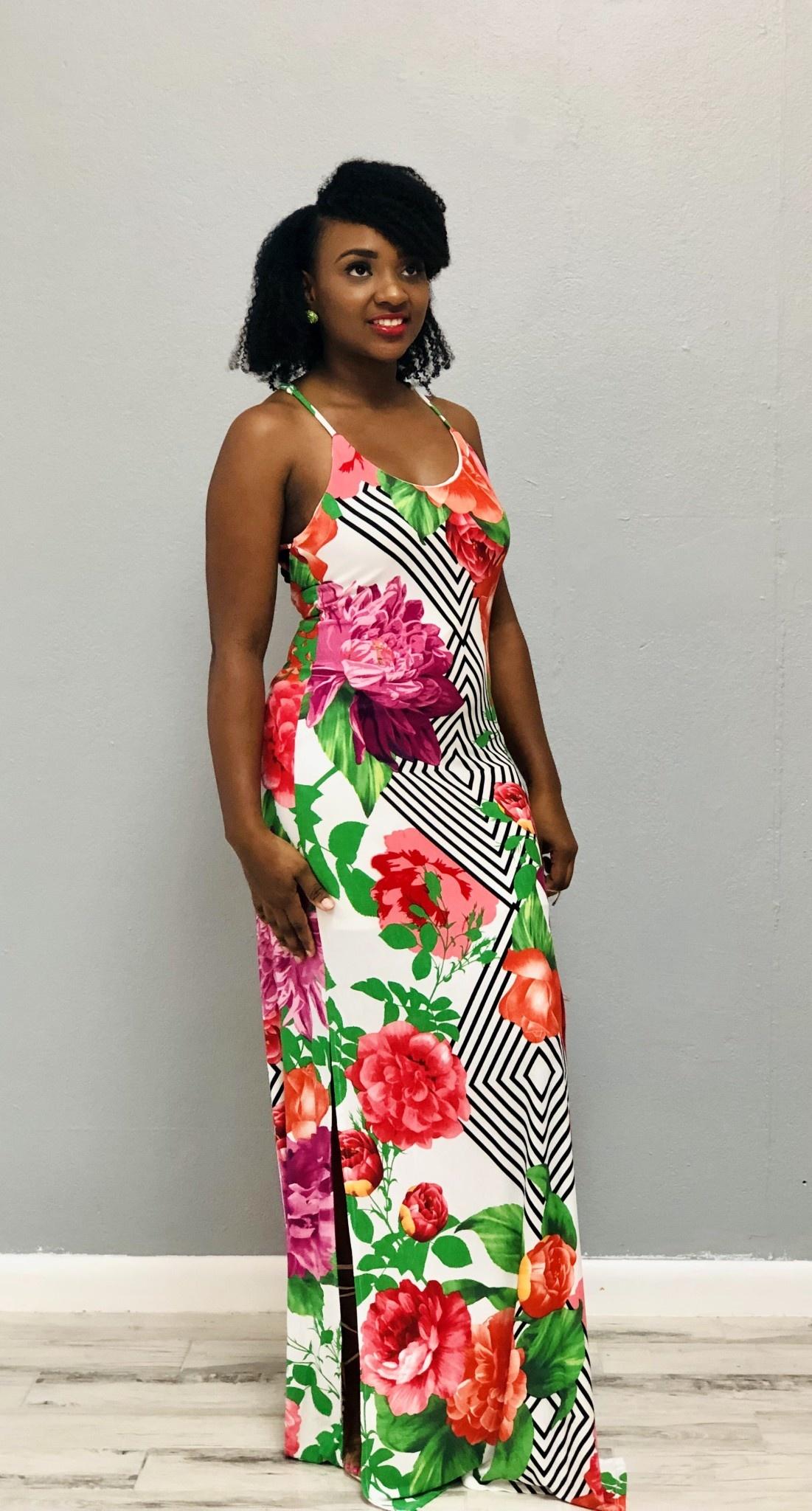 Tropical Dreams Floral Maxi Dress