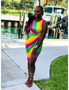 So Bright Rainbow Dress