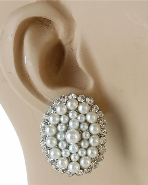 Burst of Pearls Earrings
