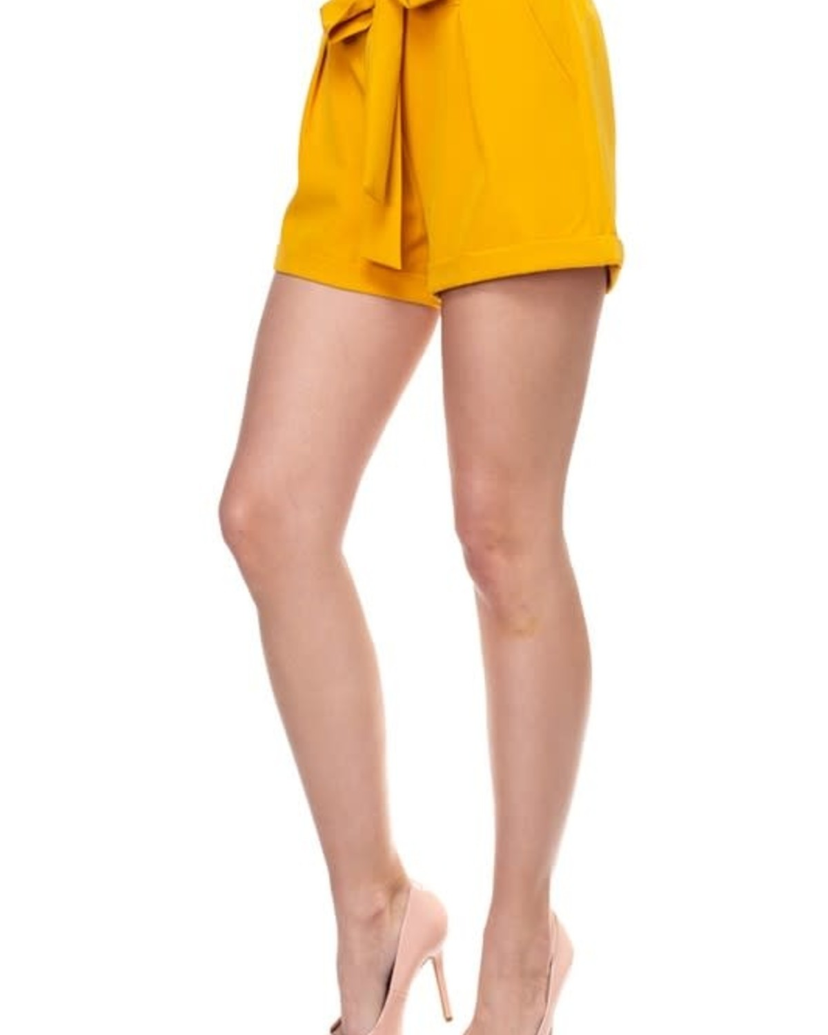 Tied Together Shorts Mustard