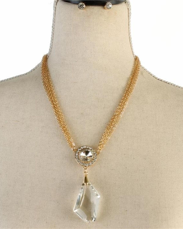 Studs & Stones Necklace Set