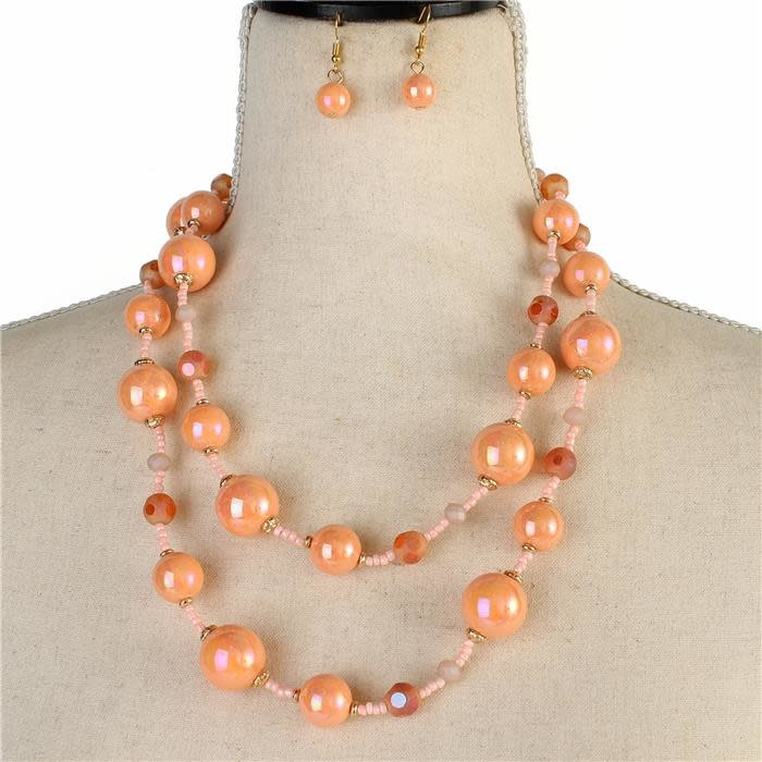 Bead Connection Necklace Set