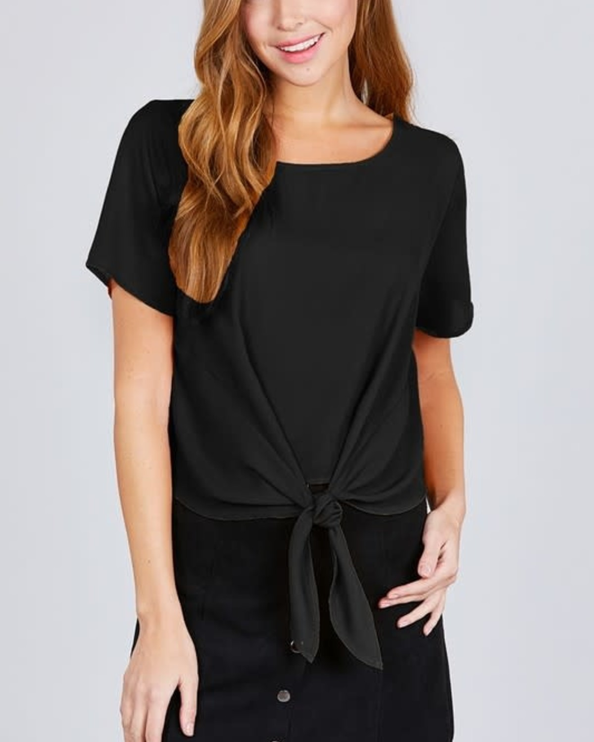 Tie Knot Top Black
