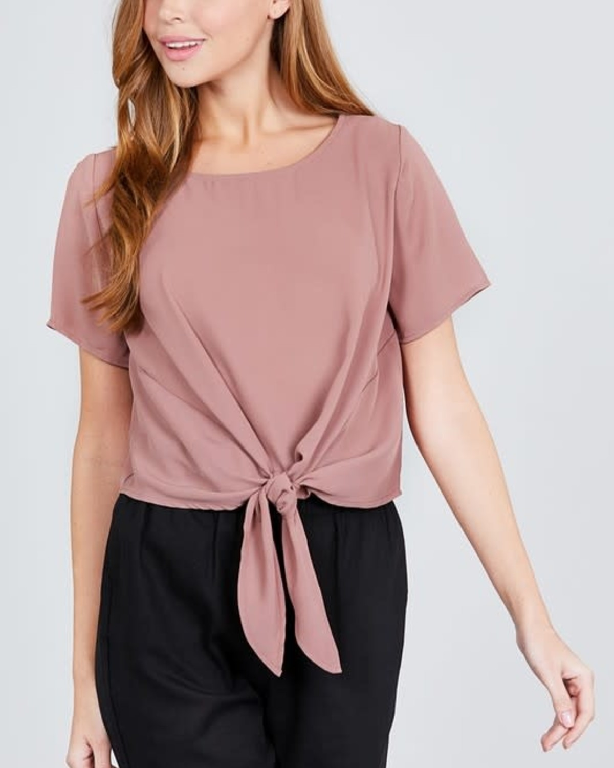 Tie Knot Top Pinkish Tan