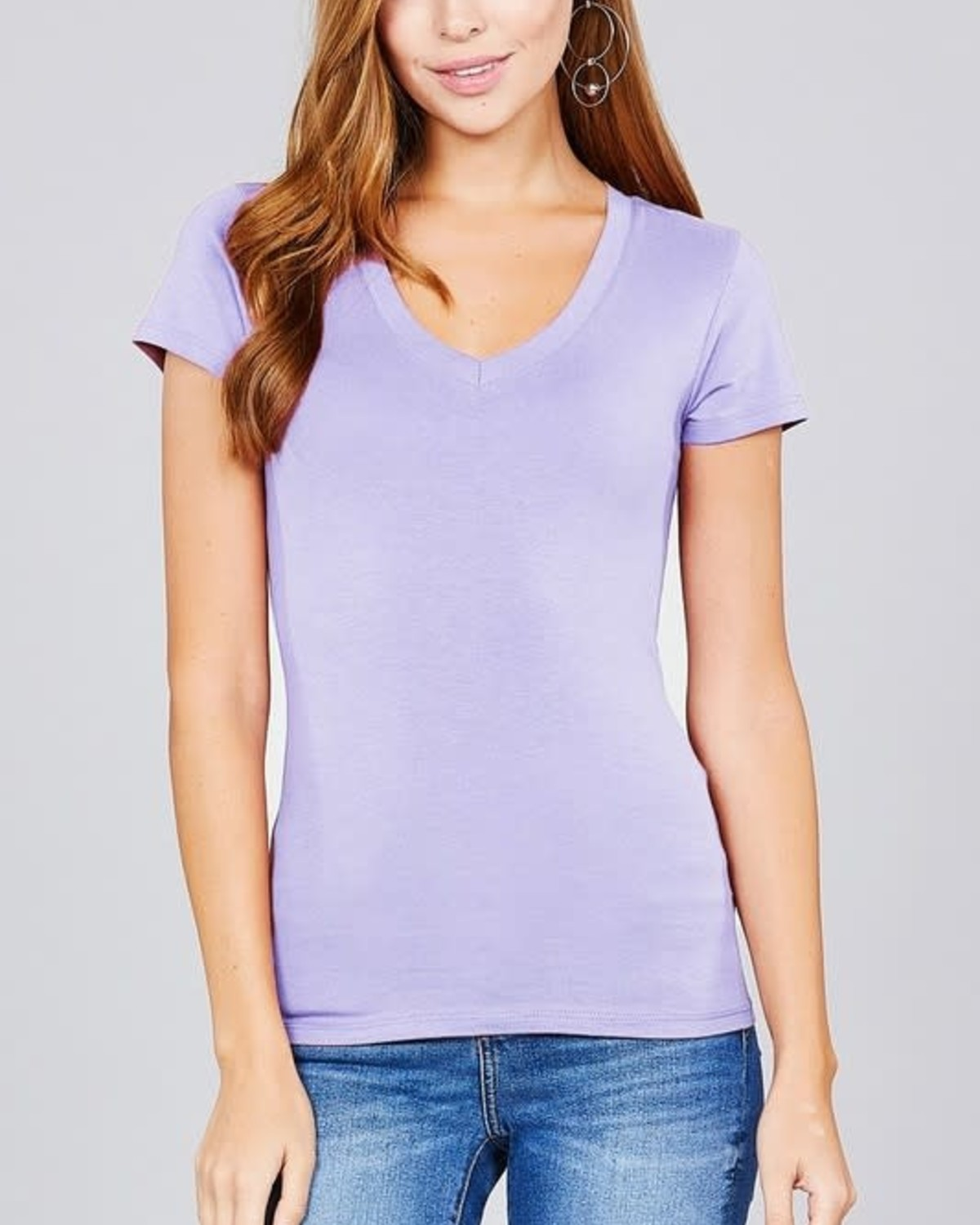 Electric Lilac V Neck T-Shirt