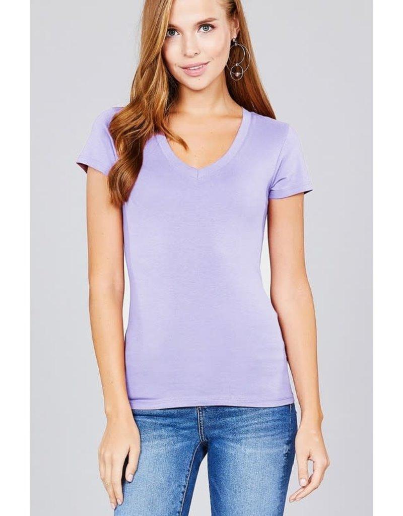 Electric Lilac V Neck T-Shirt