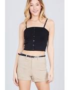 Shorty Low Belted Shorts Khaki