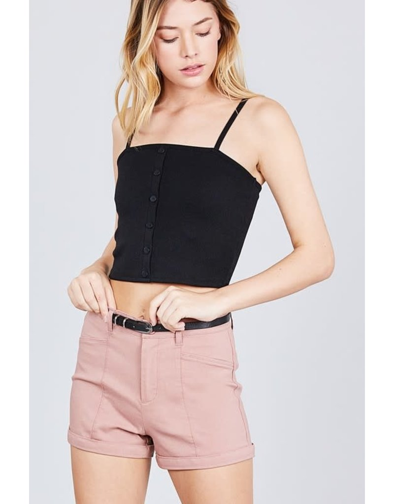 Shorty Low Belted Shorts Dusty Pink