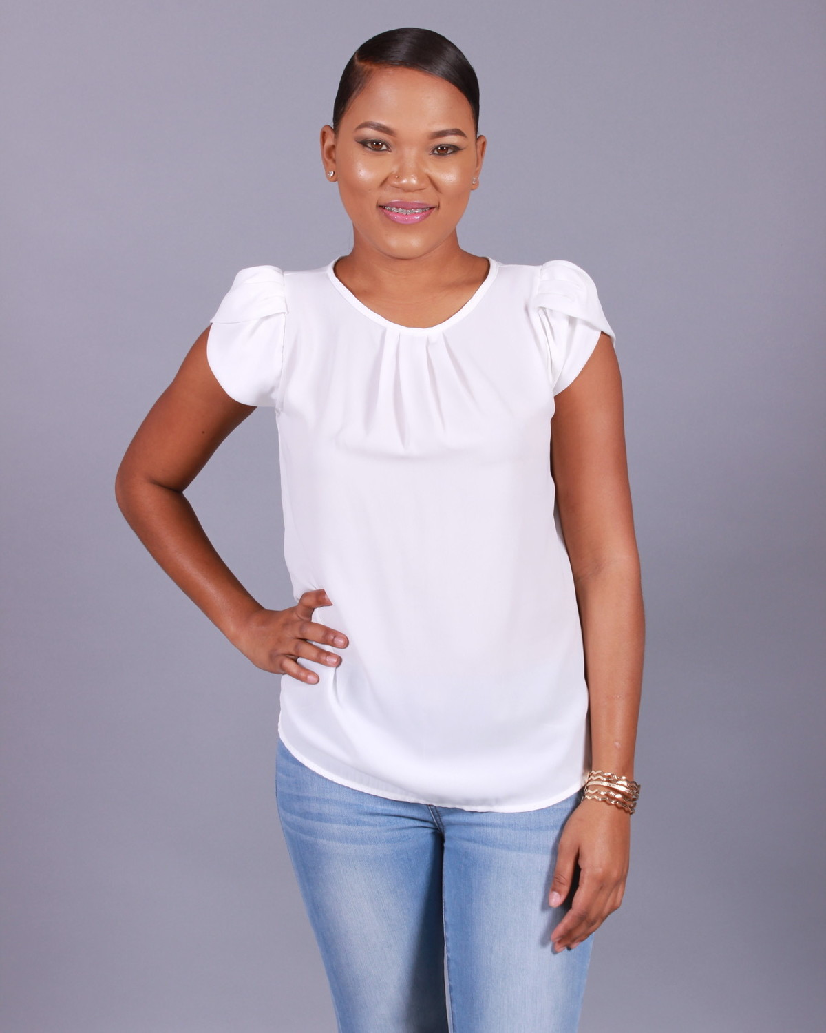 White Tulip Sleeve Top