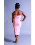Time Out Tube Dress Pink