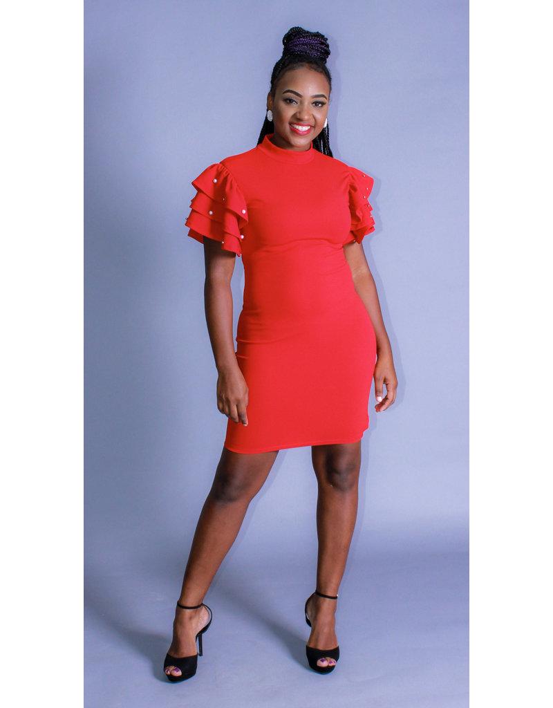 I Love It All Ruffle Dress
