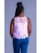 Sweet Treat Crochet Top Lavender