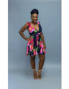 Floral Pop Chiffon Dress