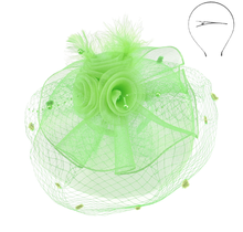 Pearl Dreams Fascinator Lime