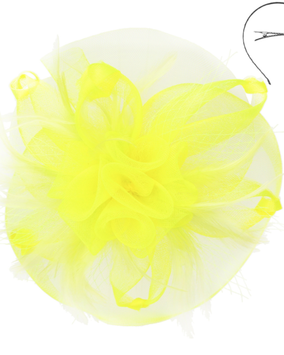 Twist Of Glory Fascinator Yellow