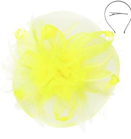 Twist Of Glory Fascinator Yellow