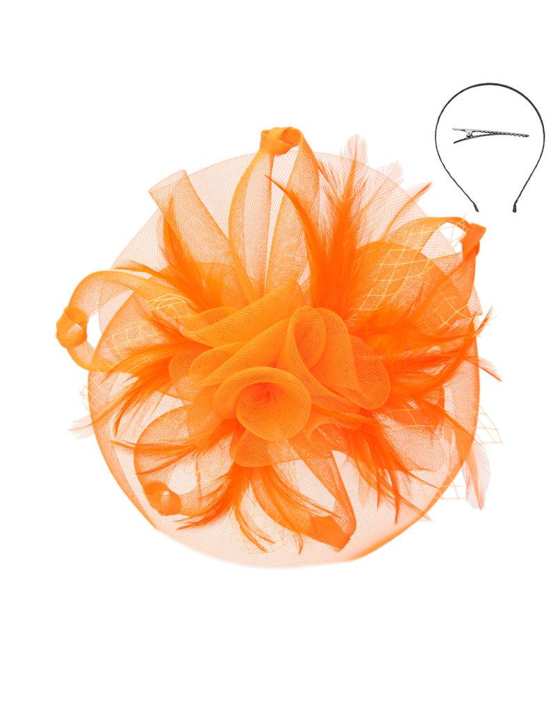 Twist Of Glory Fascinator Orange