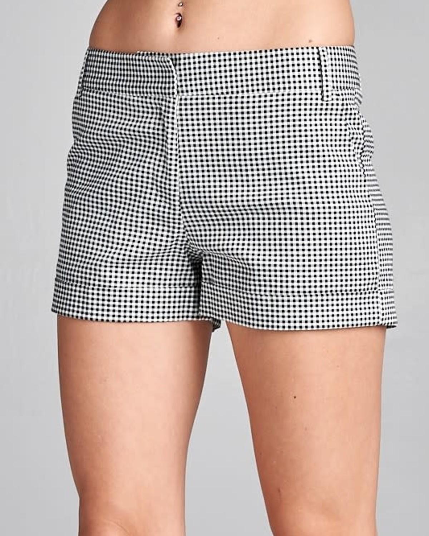 Follow Me Checkered Pants Black