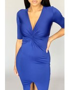 Twist Of Attention Bodycon Dress