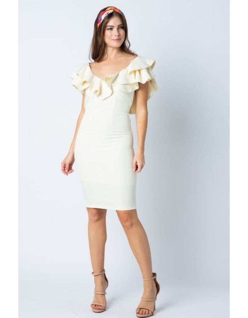 Making Moves Ruffle Dress