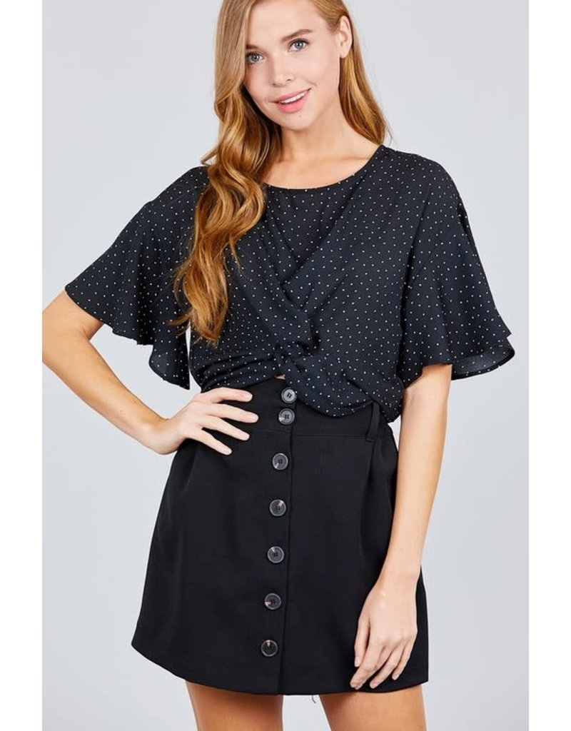 Twisted Thoughts Top Black