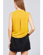 Run The Town Tie Top Mustard