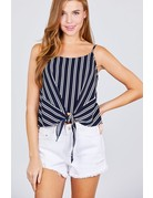 Take Me For A Ride Striped Top Navy
