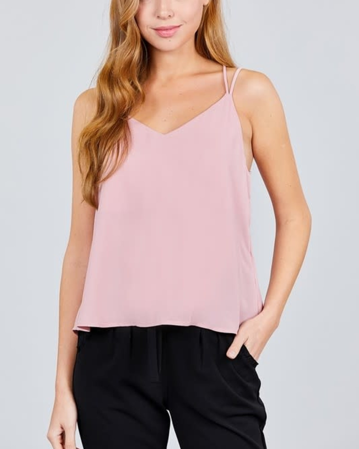 On My Own Crossover Top Pink