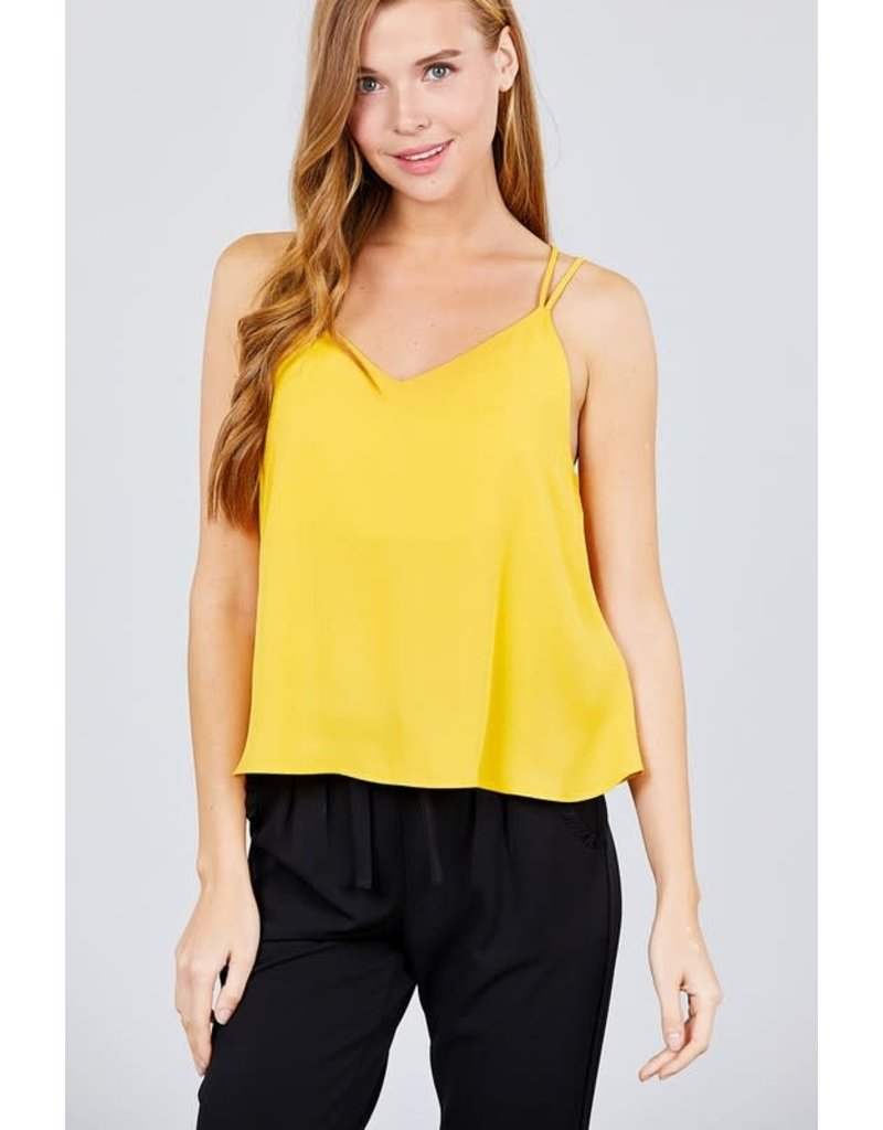 On My Own Crossover Top Yellow