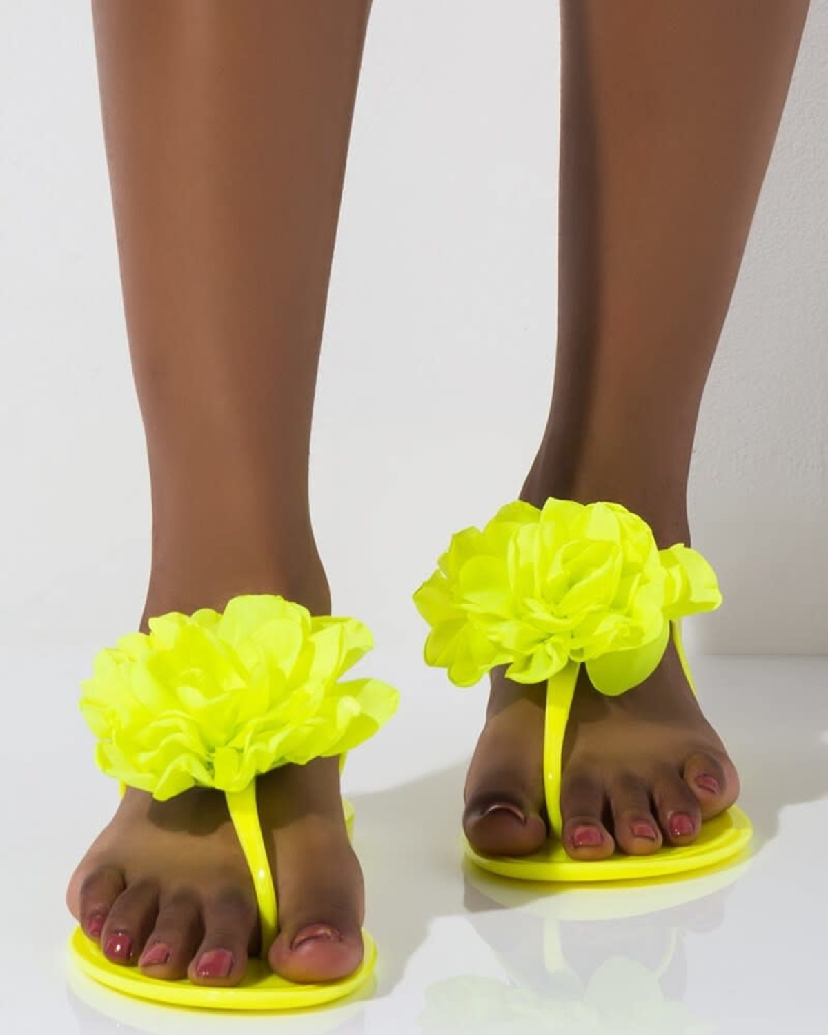 Flower Pop Jelly Sandals Yellow