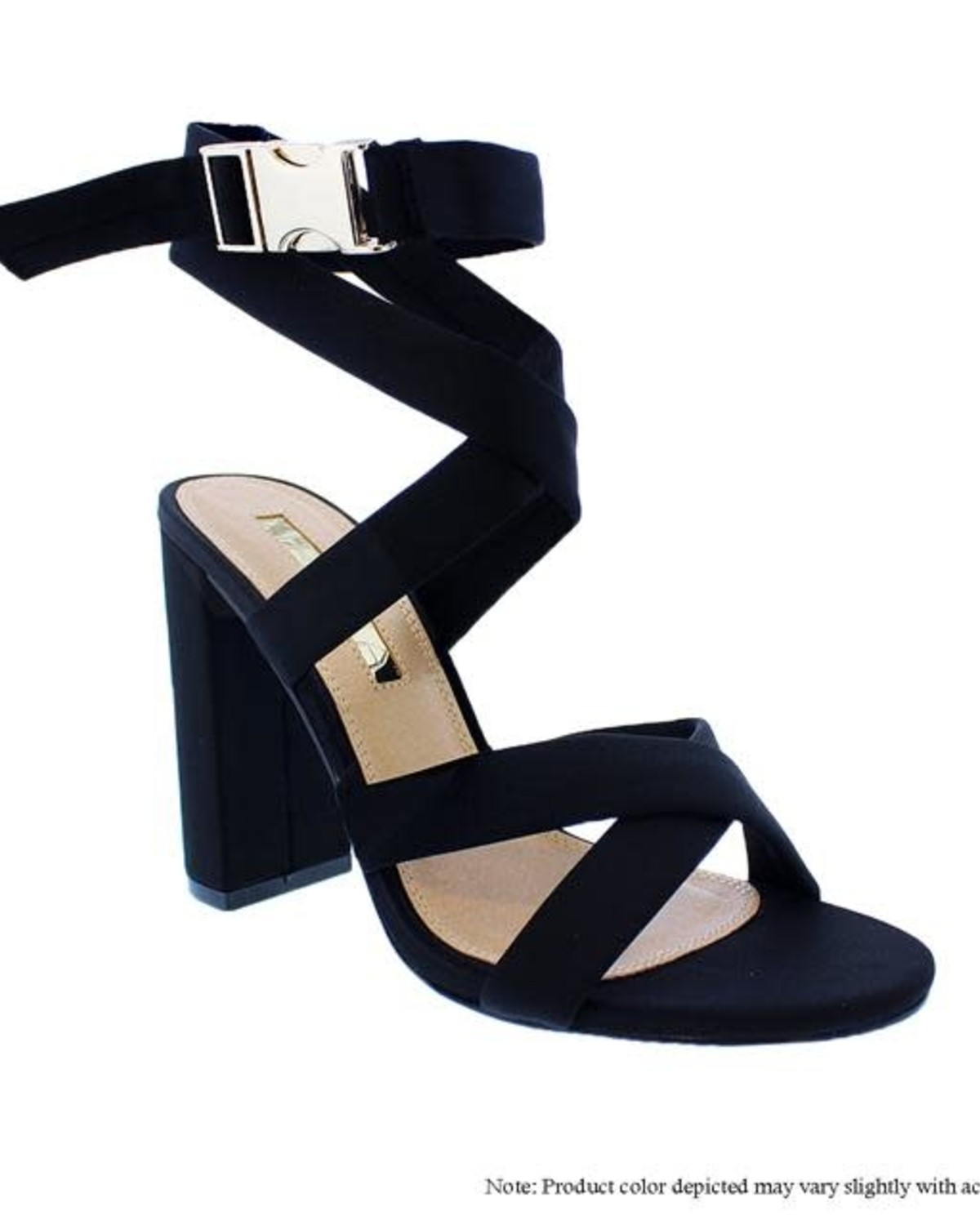No More Running Block Heels Black