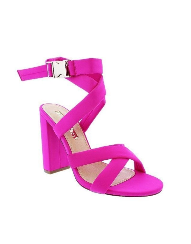 No More Running Block Heels Fuchsia