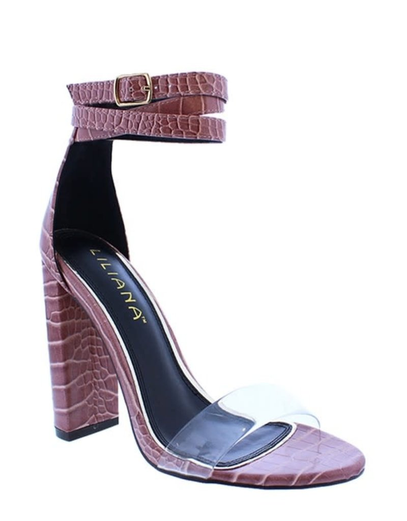 Animal Fever Block Heels Mauve
