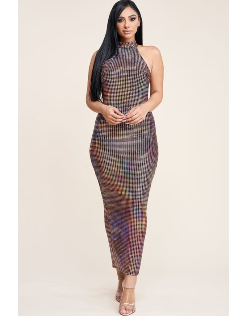 Runway Ready Hologram Midi Dress