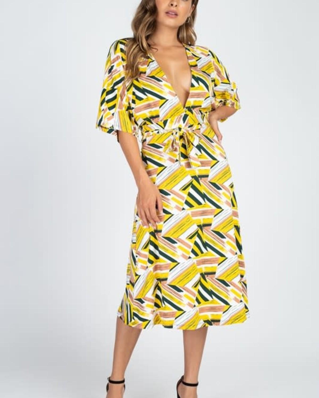 Mind Games Midi Dress Olive